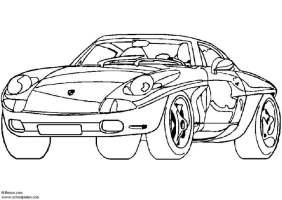 Malvorlage Porsche Showcar   Ausmalbild 5444.