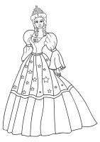 Malvorlage Prinzessin mit Kleid   Kostenlose Ausmalbilder ...