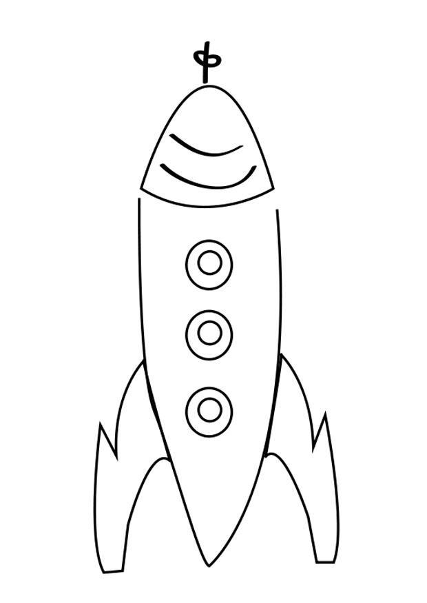 Malvorlage Rakete - Kostenlose Ausmalbilder Zum Ausdrucken