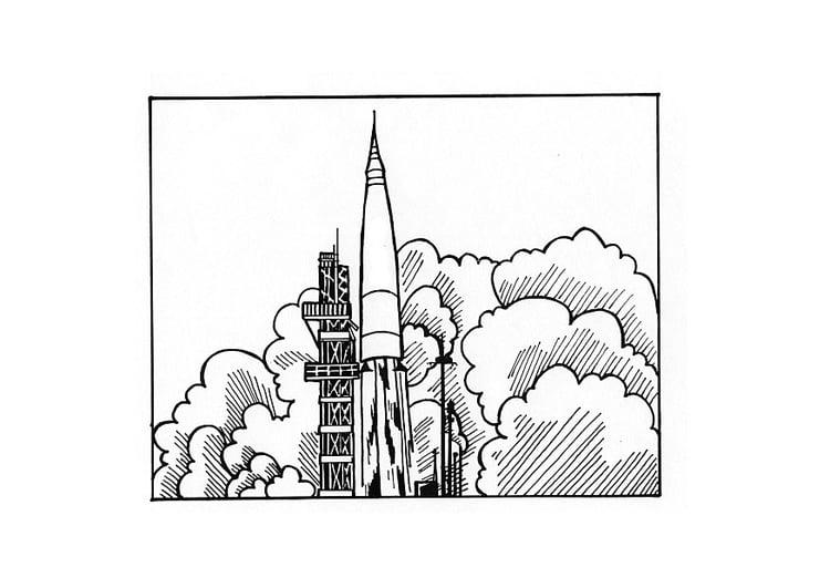 Rakete Malvorlage