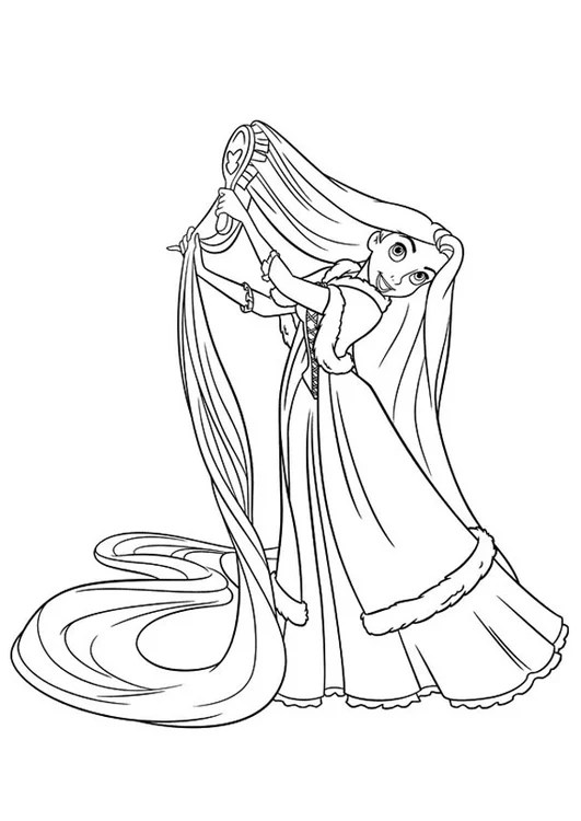 Malvorlage Rapunzel - Kostenlose Ausmalbilder Zum