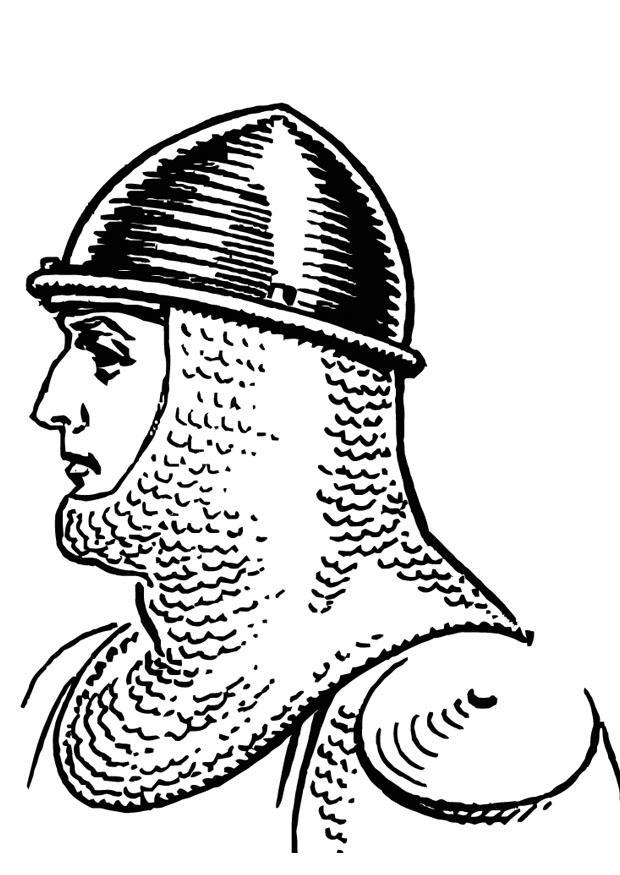 Malvorlage Ritter mit Helm - Kostenlose Ausmalbilder Zum