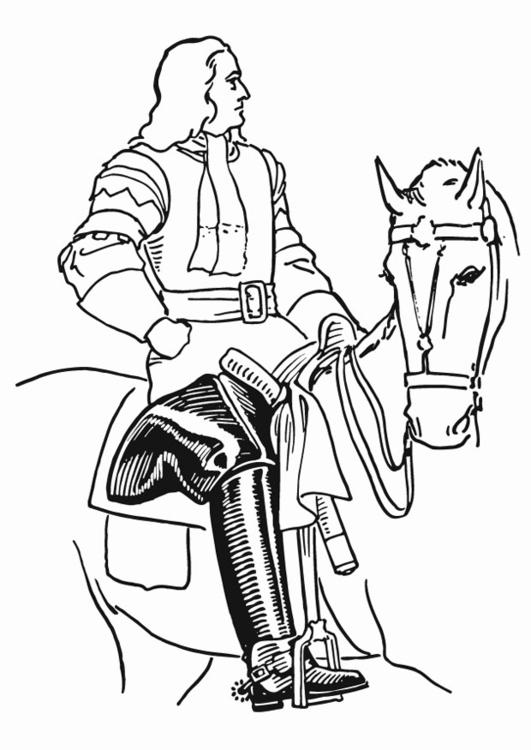 Malvorlage Ritter mit Stiefeln - Kostenlose Ausmalbilder