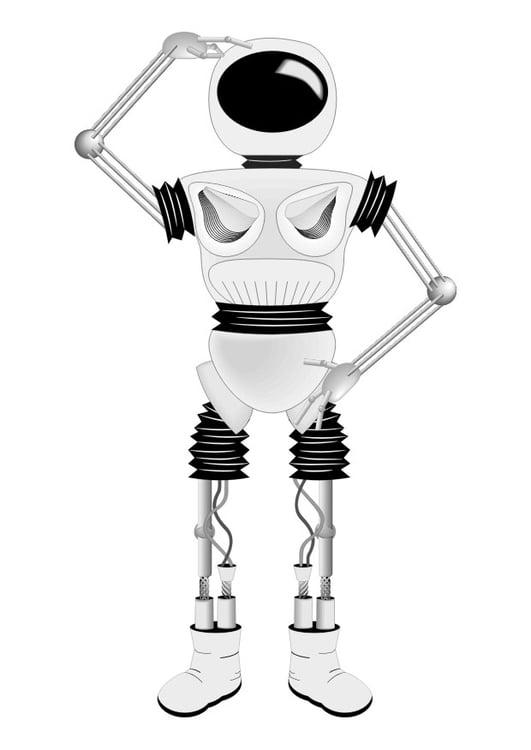 Malvorlage Roboter - Kostenlose Ausmalbilder Zum Ausdrucken