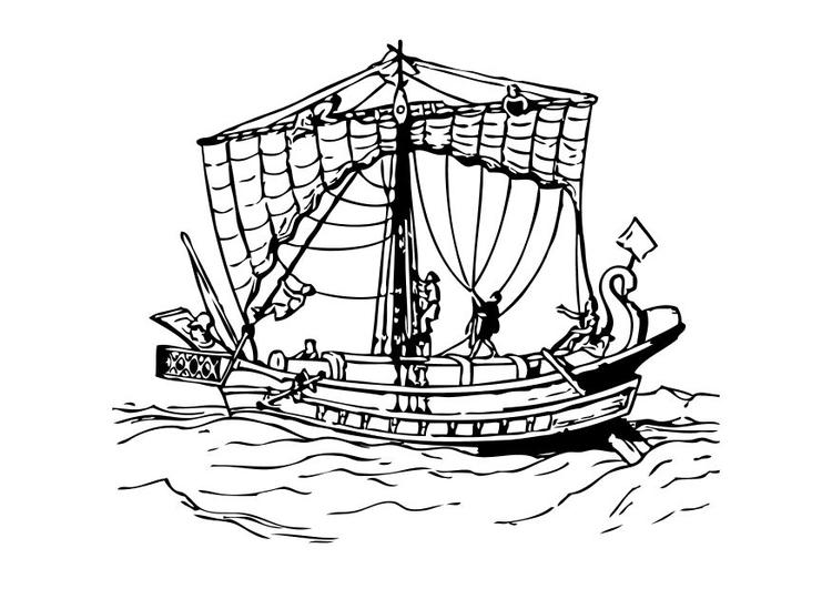 Malvorlage römisches Boot Ausmalbild 10481