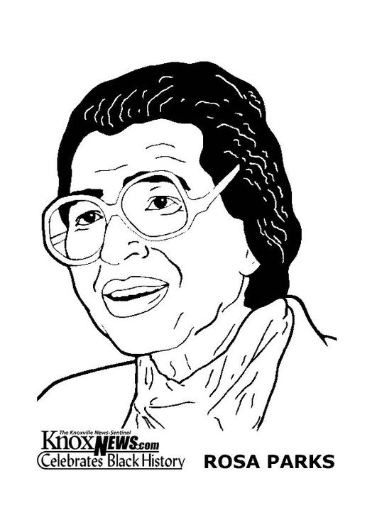 Malvorlage Rosa Parks - Kostenlose Ausmalbilder Zum
