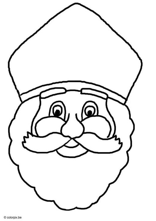 Malvorlage Sankt Nikolaus - Kostenlose Ausmalbilder Zum
