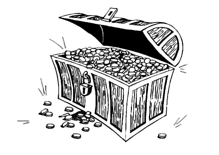 Malvorlage Schatzkiste - Kostenlose Ausmalbilder Zum