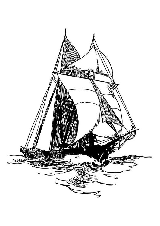Malvorlage Schiff - Kostenlose Ausmalbilder Zum Ausdrucken