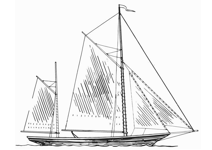 Malvorlage Schiff - Masten - Kostenlose Ausmalbilder Zum