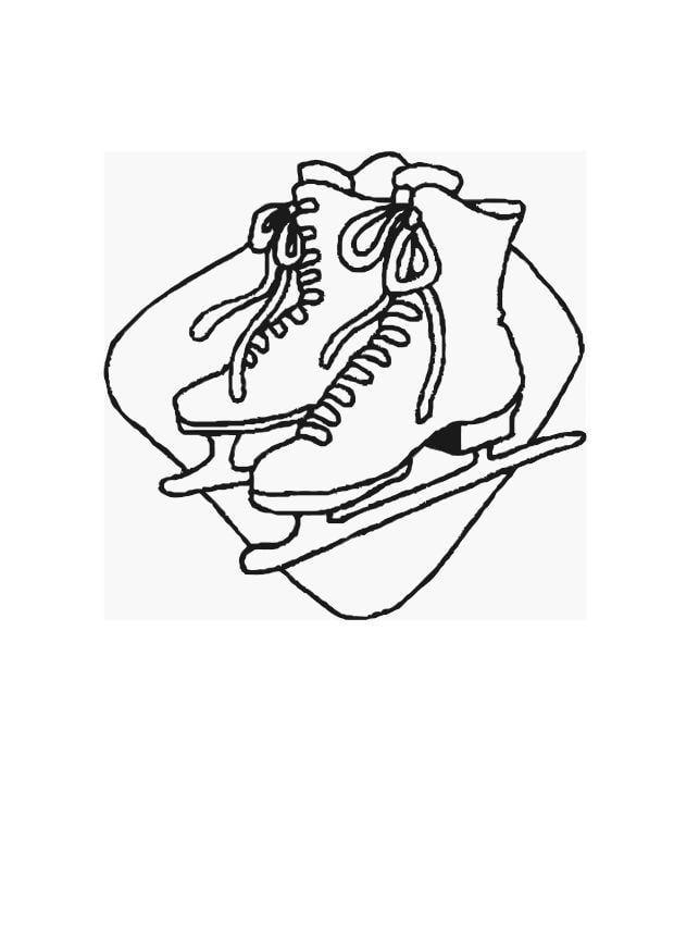 Malvorlage Schlittschuhlaufen - Kostenlose Ausmalbilder