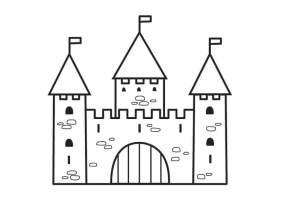 Malvorlage Schloss 2   Kostenlose Ausmalbilder Zum ...