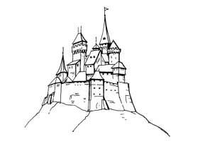 Malvorlage Schloss   Kostenlose Ausmalbilder Zum ...