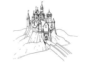 Malvorlage Schloss   Ausmalbild 18469.