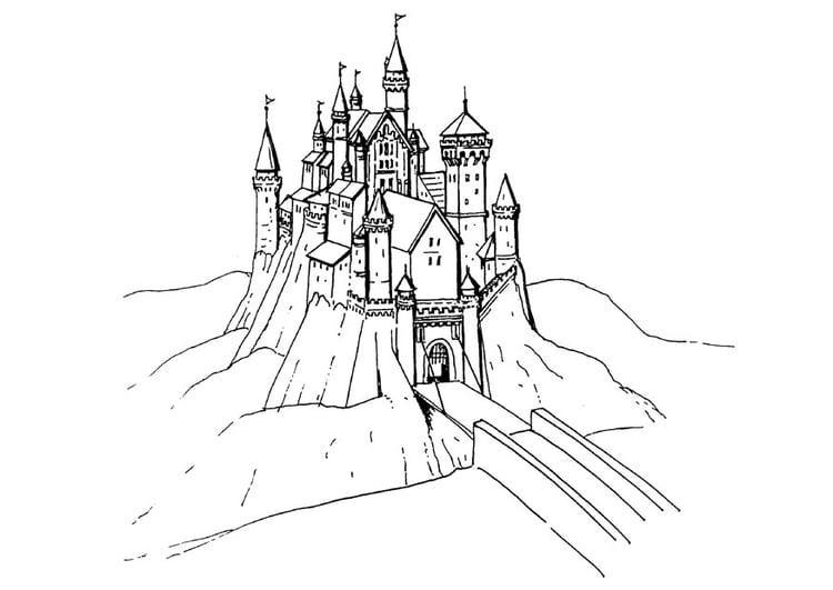 Malvorlage Schloss Ausmalbild 18469