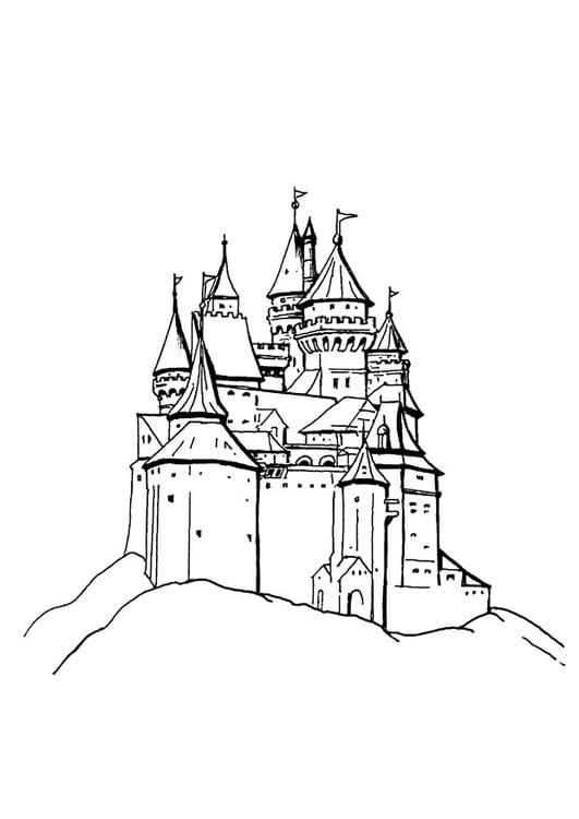 Malvorlage Schloss - Kostenlose Ausmalbilder Zum