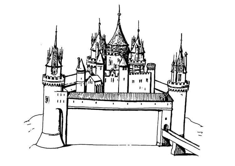 Malvorlage Schloss - Kostenlose Ausmalbilder Zum Ausdrucken