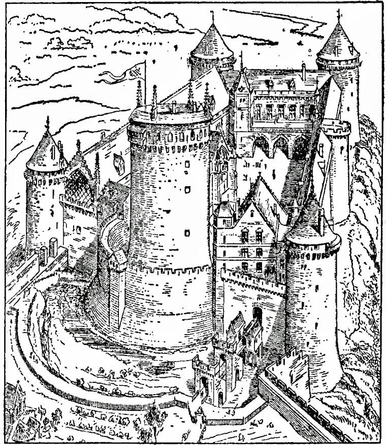 Malvorlage Schloss in Coucy Ausmalbild 18458