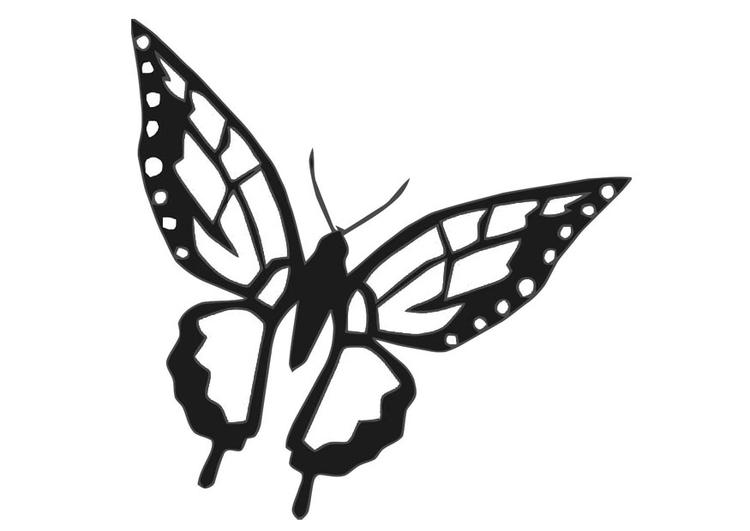Malvorlage Schmetterling - Kostenlose Ausmalbilder Zum