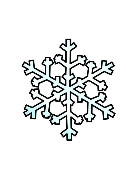 Malvorlage Schnee Ausmalbild 10356