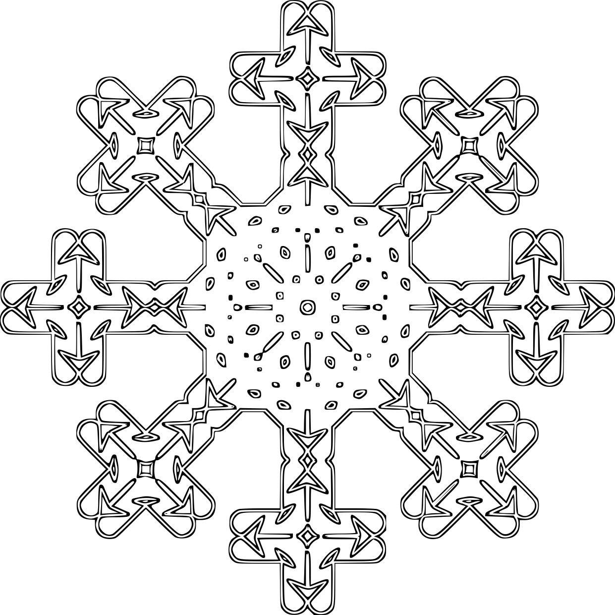 Malvorlage Schneeflocke - Kostenlose Ausmalbilder Zum