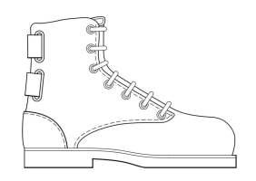 Malvorlage Schuh   Kostenlose Ausmalbilder Zum Ausdrucken ...