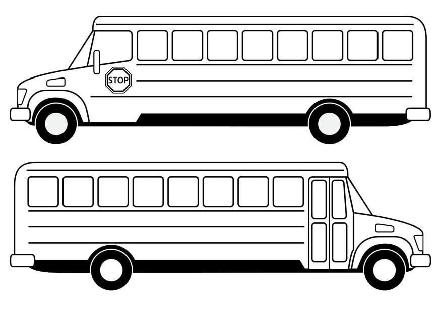 Malvorlage Schulbus - Kostenlose Ausmalbilder Zum
