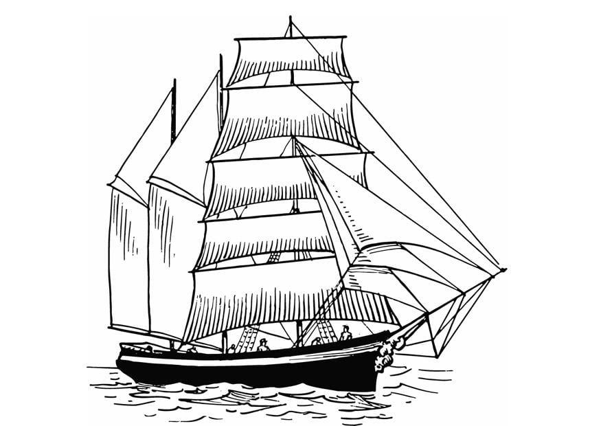 Malvorlage Segelboot Ausmalbild 13308