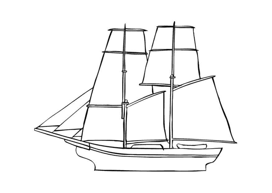 Malvorlage Segelschiff - Kostenlose Ausmalbilder Zum
