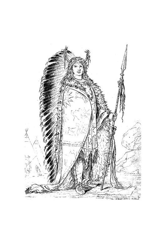 Malvorlage Sioux Indianer - Kostenlose Ausmalbilder Zum
