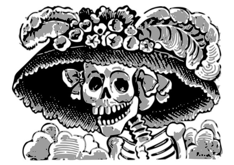 Malvorlage Skelett - Kostenlose Ausmalbilder Zum Ausdrucken