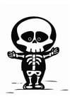 Malvorlage Skelett - Kostenlose Ausmalbilder Zum