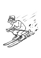 Malvorlage Ski fahren   Kostenlose Ausmalbilder Zum ...