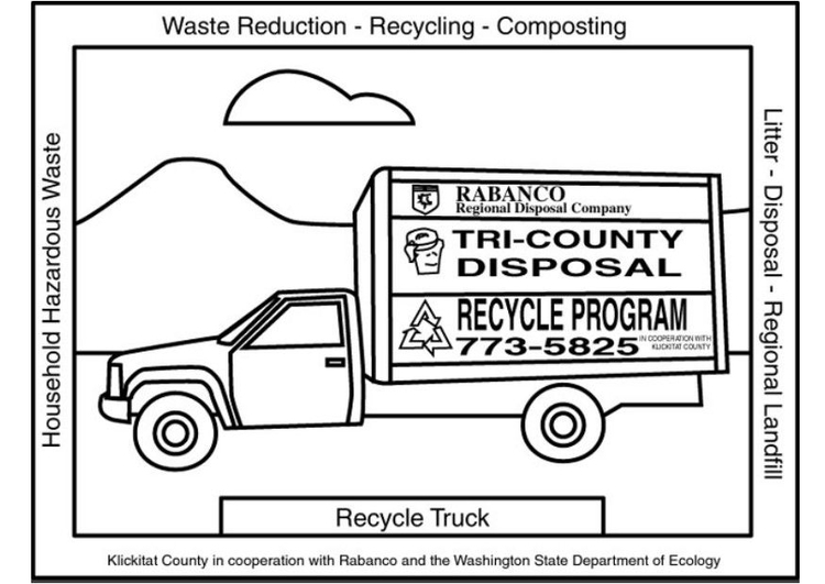 Müllwagen Malvorlage
