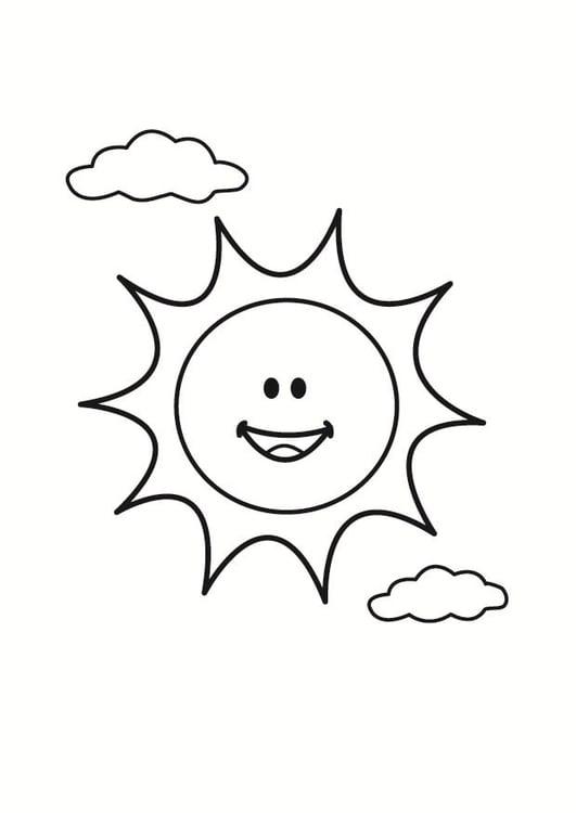 Malvorlage Sonne - Kostenlose Ausmalbilder Zum Ausdrucken