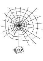 Malvorlage Spinnennetz mit Spinne   Kostenlose ...