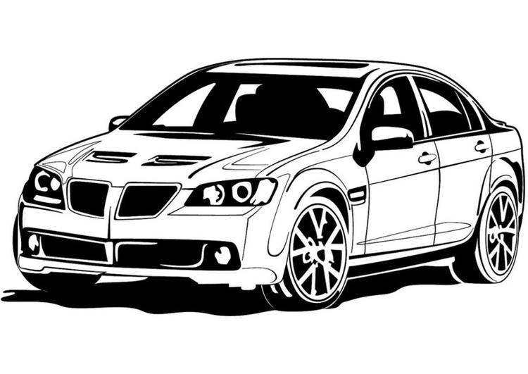 Malvorlage Sportauto - Kostenlose Ausmalbilder Zum