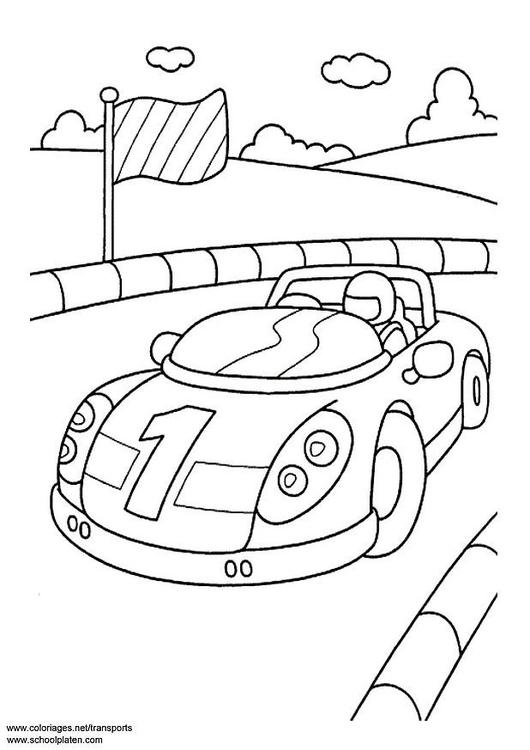 Malvorlage Sportwagen - Kostenlose Ausmalbilder Zum