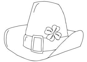 Malvorlage St. Patrick&39;s Day Hut   Kostenlose Ausmalbilder ...