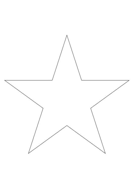 Malvorlage Stern Ausmalbild 27796