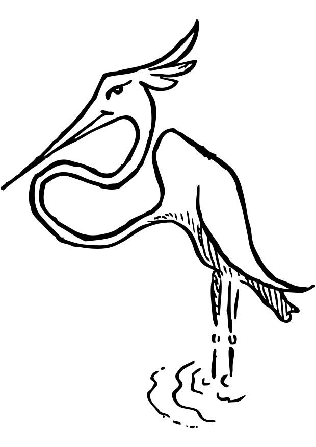 Malvorlage Storch - Kostenlose Ausmalbilder Zum Ausdrucken