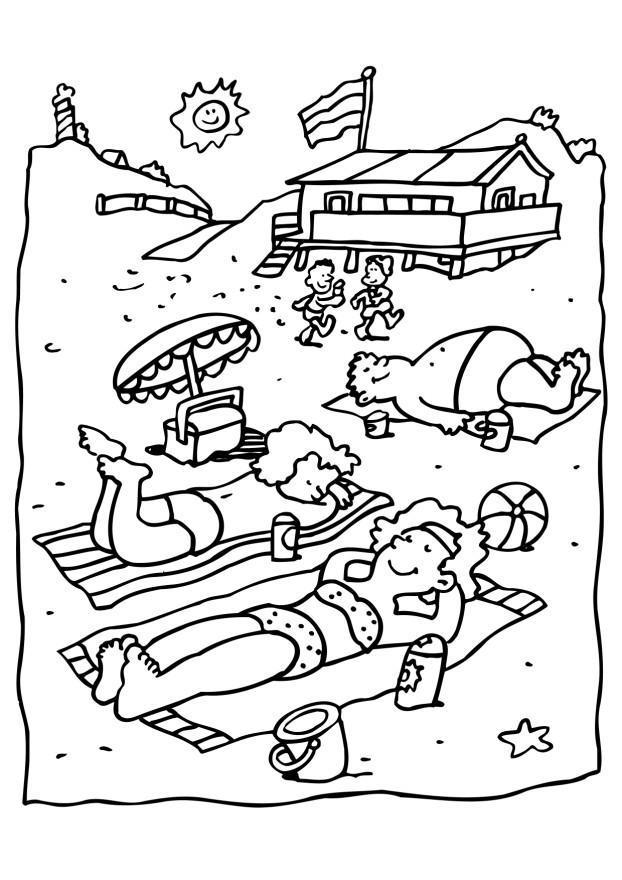 Malvorlage Strand - Kostenlose Ausmalbilder Zum Ausdrucken