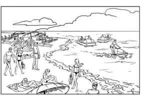 Malvorlage Strand und Meer   Kostenlose Ausmalbilder Zum ...