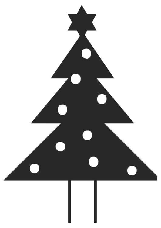 Malvorlage Tannenbaum mit Weihnachtsstern Ausmalbild 20398