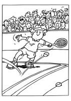 Malvorlage Tennis   Kostenlose Ausmalbilder Zum Ausdrucken ...