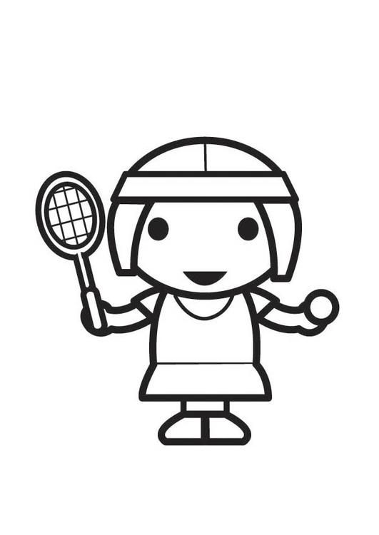 Malvorlage Tennisspielerin - Kostenlose Ausmalbilder Zum