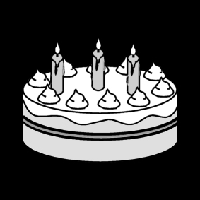 Malvorlage Torte - Geburtstag - Kostenlose Ausmalbilder