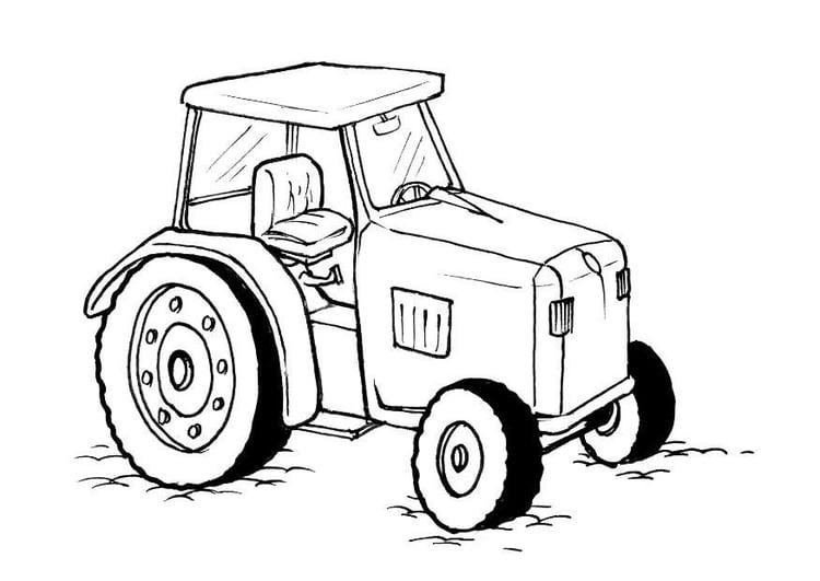 Malvorlage Traktor - Kostenlose Ausmalbilder Zum