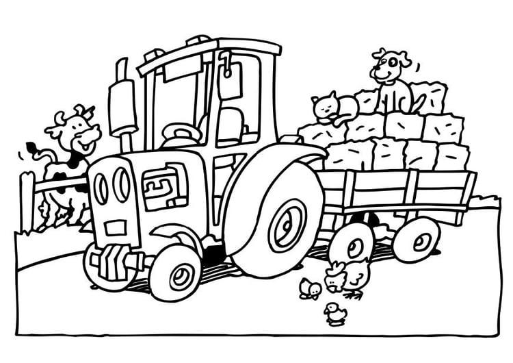 Malvorlage Traktor - Kostenlose Ausmalbilder Zum Ausdrucken