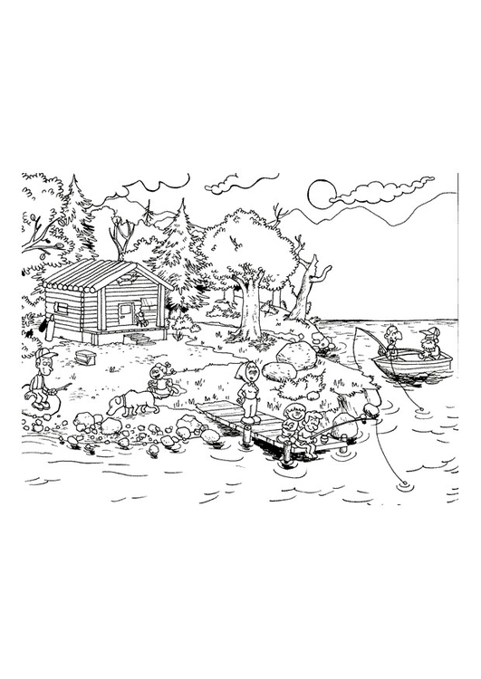 Malvorlage Urlaub am Meer Ausmalbild 10780